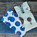 Mosózsák szett- Kék és léggömb, 2 db vastagabb textilből készülő mosózsákbó...