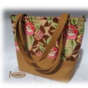 Medium Bag / Női táska textilbőrből, amerikai designer textillel, Ruha, divat, cipő, Táska, Válltáska, oldaltáska, Laptoptáska, Varrás, Patchwork, foltvarrás, Ha szereted az egyediséget, ha rajongsz a rózsákért, a romantikáért... akkor ez a táska Neked készü..., Meska