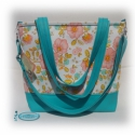 Medium Bag / Női táska textilbőrből, amerikai designer textillel, Ruha, divat, cipő, Táska, Válltáska, oldaltáska, Laptoptáska, Varrás, Patchwork, foltvarrás, Ha szereted az egyediséget, ha kedveled a vidám színeket... akkor ez a táska Neked készült ;o)  Min..., Meska