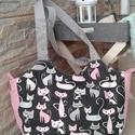 Cicák a táskámra telepedtek :), Nyári táska annak, aki szeret egyedit hordani......