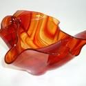 Láva Üveg váza!, Dekoráció, Otthon, lakberendezés, Dísz, Gyertya, mécses, gyertyatartó, Üveg vázát készítettem fusing (rogyasztásos) technikával.  Az üveg gyönyörű átlátszó b..., Meska