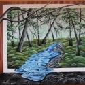 Kép a képben, Képzőművészet, Festmény, Akril, Festészet, Művészakrillal készült kép feszített vászonra. A kép szélei is festve vannak, így keretezni nem szü..., Meska