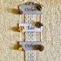 """Otthon édes otthon dekoráció, őszi terméses fai dekoráció, Dekoráció, Otthon, lakberendezés, Ajtódísz, kopogtató, Falikép, Mindenmás, A képen látható """"Otthon édes otthon"""" felirattal díszített fali dekoráció három darab natúr színű fa..., Meska"""