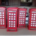 London phone teatarto, Konyhafelszerelés, Otthon, lakberendezés, Famegmunkálás, Festett tárgyak, Egyedi kivitelezesu  fabol keszult teatarto  csiszolt festett kezelt erdekesseg az ablakok foszfore..., Meska