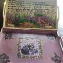 Vintage nagy talca, Otthon, lakberendezés, Konyhafelszerelés, Tálca, Fabol kezzel keszult  nem elore gyartott Talca csiszolt kezelt Paint soft festekkel festett  Decoupa..., Meska