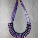 Divatos nyakék világoskék és orgonalila színekben, Ékszer, Nyaklánc, , Meska