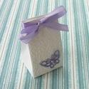 Esküvői köszönetajándék átadó dobozka, Naptár, képeslap, album, Esküvő, Ajándékkísérő, Meghívó, ültetőkártya, köszönőajándék, Papírművészet, Aprócska, jelképes ajándék átadására alkalmas dobozka, esküvőn, keresztelőn, névvel ellátva ültetők..., Meska