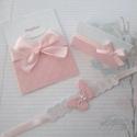 Rózsaszín harmónia, Naptár, képeslap, album, Baba-mama-gyerek, Dekoráció, Papírművészet, Kis méretű, A6-os nagyságú kinyitható üdvözlőlap, mely lehet meghívó, babahírmondó, jókívánságot kö..., Meska