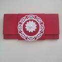 Menyecsketánc boríték, Naptár, képeslap, album, Esküvő, Ajándékkísérő, Nászajándék, Késztermék, azonnal viheted :) Gyönyörű piros strukturált kartonból készült pénzátadó bo..., Meska