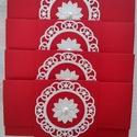 4 db Menyecsketánc boríték Joel91 részére, Naptár, képeslap, album, Esküvő, Ajándékkísérő, Nászajándék, Papírművészet, 4 db menyecsketánc boríték Késztermék, azonnal viheted :) Gyönyörű piros strukturált kartonból kész..., Meska