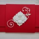 Menyecsketánc boríték, Naptár, képeslap, album, Esküvő, Ajándékkísérő, Nászajándék, Papírművészet, Késztermék, azonnal viheted :) Gyönyörű piros strukturált kartonból készült pénzátadó boríték menye..., Meska