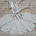 Fehér ajándékkísérő kártya, Dekoráció, Naptár, képeslap, album, Ajándékkísérő, 6 db hófehér ajándékkísérő kártyát készítettem hófehér dupla névjegykártya kartonból..., Meska