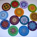Mandala, kísérő ajándék, Dekoráció, Kép, Dísz, 10 cm átmérőjű kézzel festett egyedi selyemképek, melyek apró ajándékként adhatók bárkinek: akár egy..., Meska