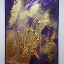 Aranykapu, Képzőművészet, Festmény, Akril, Festmény vegyes technika, Festészet, Absztrakt, 18 x 24 cm vászon, akril, pigment por Az Aranykapun átlépve egy új fejezet kezdődik. Egy..., Meska
