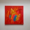Úton, Képzőművészet, Festmény, Akril, Absztrakt, 30 x 30 cm vászon, akril, struktúra paszta Az alapszín megfestése után spatulával, ..., Meska