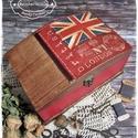 London Baby láda - pénzgyűjtő / pénzátadó / jókívánság / sorsjegy / nászajándék / esküvő / tároló doboz, Otthon, lakberendezés, Férfiaknak, Tárolóeszköz, Láda, Férfiaknak, angol tanároknak remek választás ez a brit mintás láda, mely amellett hogy dekorat..., Meska