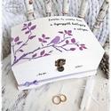 Emlékláda - Szeretni és Szeretve lenni (pénzgyűjtő, pénzátadó, jókívánság, sorsjegy, emlékőrző láda, esküvő, tároló), Esküvő, Szerelmeseknek, Nászajándék, Esküvői dekoráció, Festett tárgyak, Fotó, grafika, rajz, illusztráció, ==> 10.000 Ft* összértéket meghaladó vásárlás esetén a SZÁLLÍTÁS INGYENES.  ==> 15.000 Ft* összérté..., Meska
