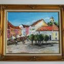 Napfényes Szentendre-festmény műteremből , Képzőművészet, Festmény, Akril, Olajfestmény, Festészet, EGYENESEN AZ ALKOTÓTÓL MEGVÁSÁROLHATÓ FESTMÉNY-MŰTEREMBŐL GARANTÁLT MINŐSÉG ÚJ ÁLLAPOTBAN -NAPFÉNYE..., Meska