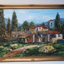 Angol vidék-egyedi festmény műteremből keretezve, Képzőművészet, Festmény, Akril, Olajfestmény, A SZÁLLÍTÁS DÍJMENTES!  EGYENESEN AZ ALKOTÓTÓL MEGVÁSÁROLHATÓ FESTMÉNY-MŰTEREMBŐL  GARAN..., Meska