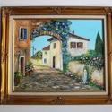 Veronai utcarészlet-, Képzőművészet, Festmény, Akril, Illusztráció, Festészet, KÜLÖNLEGESSÉG -otthona dísze lehet eredeti ,kézzel festett, értékes festmény.  Az aukció tárgya: 1 ..., Meska