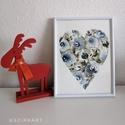 Kék rózsák-akvarell, Művészet, Festmény, Akvarell, Festészet, Egyedi akvarell festmény, rózsák szív alakban. Kiváló minőségű Hahnemühle 310g/m2-es akvarell papír..., Meska