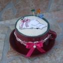 Tűpárna csészében Keresztszemes Hattyú mintával, Dekoráció, Otthon, lakberendezés, Dísz, Egyedi Tűpárna Keresztszemes Hattyú mintával.  Saját készítésű, keresztszemes hímzéssel készítettem ..., Meska
