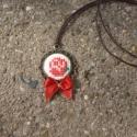 Kézműves Keresztszemes Rózsa mintás nyaklánc, Ékszer, Nyaklánc, Egyedi Keresztszemes mintás nyaklánc.  Saját készítésű, egyedileg tervezett keresztszemes rózsa mint..., Meska