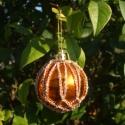 Sárga-Arany Horgolt Karácsonyfadísz, Sárga-Arany Horgolt dísz, dekorációnak vagy Ka...