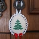 Fenyőfás Dekorációs Függő - Karácsonyfadísz, Dekoráció, Dísz, Ünnepi dekoráció, Ajtódísz, kopogtató, Karácsonyi Fenyőfás függő.  Felhasználható:  - Ajtódísznek - Kilincsdísznek - Fogantyúdísznek - Kará..., Meska