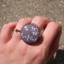 Matekos gyűrű, Ékszer, Gyűrű, Egyedi Képletes mintás gyűrű.  Organikus pamutból készült a gyűrű mintája. A gyűrű állítható méretű,..., Meska