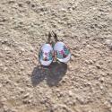 Kék Kalocsai mintás ovális fülbevaló, Ékszer, Magyar motívumokkal, Fülbevaló, Egyedi Kalocsai mintás fülbevaló.  Saját készítésű, egyedileg összerakott. A minta egyedi számítógép..., Meska