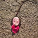 Kézműves Vintage Camea nyaklánc, Ékszer, Nyaklánc, Egyedi Camea mintás nyaklánc.  Saját készítésű, egyedileg összerakott. A Camea mérete: 2,5x2cm. A ny..., Meska