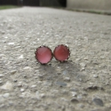 Csillogó Rózsaszínes fülbevaló bedugós, Ékszer, Magyar motívumokkal, Fülbevaló, Egyedi Csillogó rózsaszínes fülbevaló. Készítettem hozzá nyakláncot is, amit megtalálható a termékei..., Meska