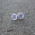 C- kulcs mintás mandzsettagomb, Férfiaknak, Egyedi C - kulcs mintás mandzsettagomb.  Saját készítésű, egyedileg összerakott. A minta egyedi szám..., Meska