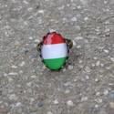 Nemzeti színek állítható gyűrű, Nemzeti színekben pompázó állítható méretű...