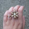Gyöngy Virág gyűrű, Cseh Kása gyöngyből készült gyűrű.  Saját ...
