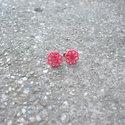 Rózsaszín csipke fülbevaló bedugós, Ékszer, Fülbevaló, Egyedi Csipke fülbevaló.  Saját készítésű, egyedileg összerakott. A csipke mérete: 1,2x1,2cm. A fülb..., Meska