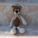Amigurumi Maci, Játék, Dekoráció, Játékfigura, Plüssállat, rongyjáték, Amigurumi technikával készült Medve. A magassága: 26cm. Igazi kis barát lehet belőle! :)   Ha bármil..., Meska