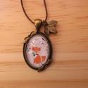 Rókás nyaklánc, Ékszer, Nyaklánc, Egyedi Virág mintás nyaklánc.  Saját készítésű, egyedileg összerakott. A kép mérete: 2,5x2cm. A nyak..., Meska