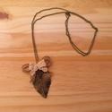 Vintage Leveles nyaklánc, Ékszer, Nyaklánc, Egyedi nyaklánc.  Saját készítésű, egyedileg összerakott. A levél 6cm. A nyaklánc hossza: 2x38cm. A ..., Meska