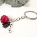 Gyöngybogyós kulcstartó - piros és fehér, Mindenmás, Kulcstartó, Japán minőségi gyöngy felhasználásával készítettem a gyöngybogyókat. A kulcstartót tová..., Meska