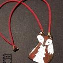 Róka nyaklánc, Ékszer, Nyaklánc, Tűzzománc technikával készített róka medál, nyaklánc. Mérete 5cm. , Meska