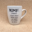 Bögre kávéfüggőknek - MOMBI, Konyhafelszerelés, Férfiaknak, Bögre, csésze, A bögrét saját kezűleg festettem készen vásárolt fehér porcelánra.  A bögrét nagy kopásállóságú spec..., Meska
