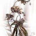 Orchidea kövön, Dekoráció, Otthon, lakberendezés, Dísz, Rendelhető...  A legelső kovácsolt vas orchideámat kőre applikálva készítettem egy ismerősöm megrend..., Meska