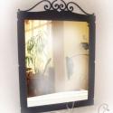 Toscana fali tükör, Otthon, lakberendezés, Képkeret, tükör, Fémmegmunkálás, Rendelhető fali tükör.   Egyszerű, szépen ívelt fali tükrömet ajánlom Mindazok figyelmébe, akik nem..., Meska