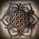 """Élet virága Mandala, Otthon, lakberendezés, Falikép, """"Mélyen a Föld szívében található a virág, annak a szellemnek a forrása, amely mindent formájába köt..., Meska"""