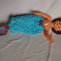 jelmez újszülött fotózáshoz, Baba-mama-gyerek, Ruha, divat, cipő, Gyerekruha, Baba (0-1év), Horgolás, Acryl fonalból horgoltam ezt a szirén lányka jelmezt, 2 darabból áll. Újszülött fotózáshoz ajánlom...., Meska