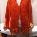 Készletkisöprés!!! bolondos kabátka, Ruha, divat, cipő, Női ruha, Kabát, Kötés, Egyszer volt rajtam ez az iparművész által tervezett bolondos kabátka. 40-42-es méret. 10 ezer ft f..., Meska