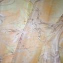 selyemstóla, Táska, Divat & Szépség, Sál, sapka, kesztyű, Ruha, divat, Sál, Márványozás (ebru) technikájával készült egyedi selyemstóla 175 X 45 cm Különleges, márványozási (eb..., Meska