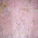 selyemkendő, Táska, Divat & Szépség, Sál, sapka, kesztyű, Ruha, divat, Kendő, Különleges, márványozás (ebru) technikájával készült egyedi 100 % selyemkendő (ponge)  55 X 55 cm Fa..., Meska